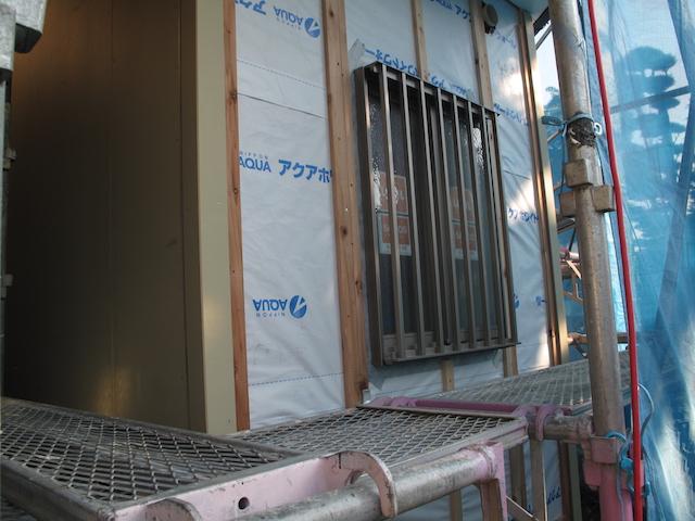 ユニットバス浴室防犯面格子内側