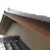 西日の当たる破風の再塗装 木材保護塗料 キシラデコール