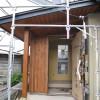 外壁材に杉板貼り仕上げ
