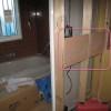 脱衣室のバスタオル掛け用の下地壁補強