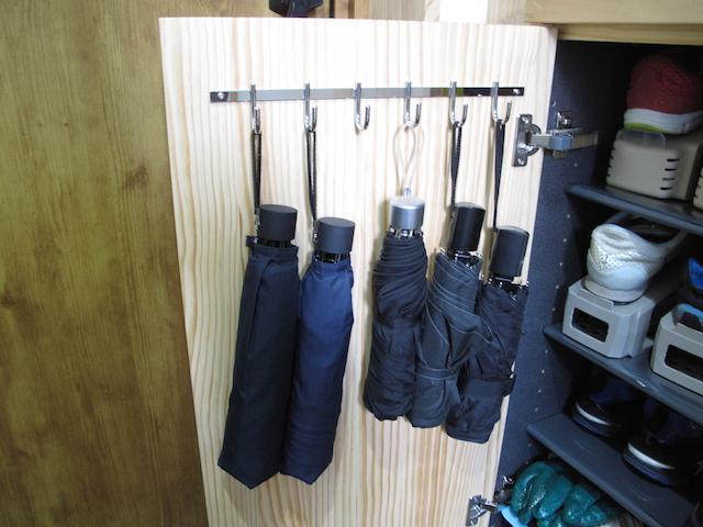 ウッドワンオプション 玄関収納扉パーツ六連フック設置後