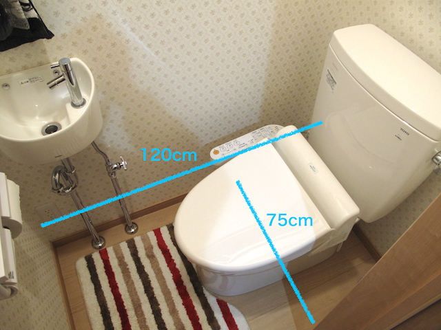 トイレの十分な広さがとれる必要寸法