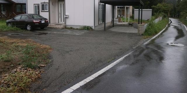 駐車場の砕石敷